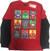 Marvel Pixel Characters Kids Youth Long Sleeve Shirt