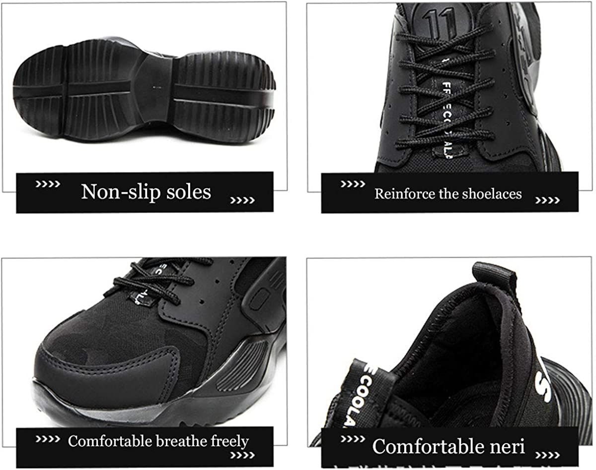 DoGeek Chaussure de Securit/é Homme Femme Basket de Securite Homme Legere Confortable Chaussures de Travail Embout de Protection en Acier Unisexes