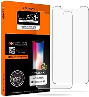 شاشة حماية زجاجية من سبيجن متوافقة مع الهواتف المحمولة - قياس من 5.6 - 6 انش