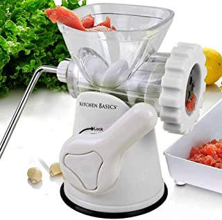 Kitchen Basics 3 N 1 Manual Meat and Vegetable Grinder Mincer, 3 Size Sausage Stuffer,..