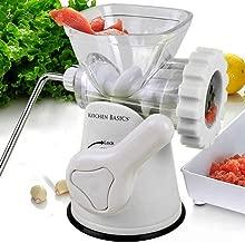 Kitchen Basics 3 N 1 Manual Meat and Vegetable Grinder Mincer, 3 Size Sausage Stuffer,..