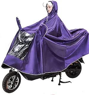 HYBAUDP Raincoat Poncho Set Motorbike Rain Cape Coat, Electric Mobility Scooter Motorcycle Large Rain Cape Coat Single Person Motorcycling Anti-Fog Rainwear Cover w/Mirror Slots&Reflective Strip