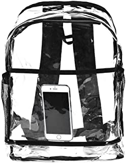 Odoukey 1pc PVC Transparente Mochila y Ajustable Acolchado Mochila pequeña (Transparente)