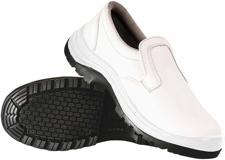 SUw - Phoenix Anti Slip Slip On Workwear Safety shoes S2 - White - UK 6.5