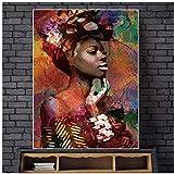 YANGMENGDAN Imprimir Sur Toile pour Tableaux muraux Figurine abstraite peinture Impressions artistiques Poster décoration de la Maison pour Salon rétro Art