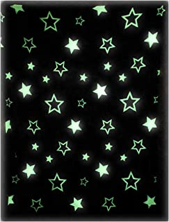 The Nifty Nook | Glow in The Dark Throw Blanket | Glowing Starry Print | Luxuriously Soft 100% Polyester Fleece | Novelty Gift for Adults and Children | 54 Inches x 61 Inches | Grey
