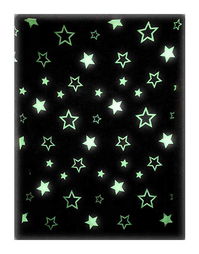 The Nifty Nook   Glow in The Dark Throw Blanket   Glowing Starry Print   Luxuriously Soft 100% Polyester Fleece   Novelty Gift for Adults and Children   54 Inches x 61 Inches   Grey