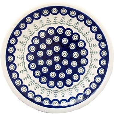 Polish Pottery Plate 9.5 Inch Diameter From Zaklady Ceramiczne Boleslawiec #1001-312 Classic Pattern