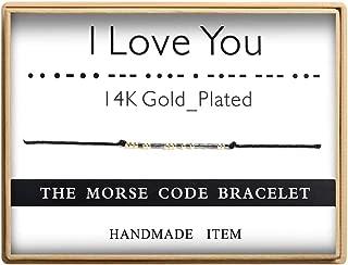 morse code i love you bracelet for him