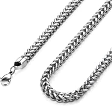High Polished 3mm 16 Inches Stainless Steel Franco Curb Chain Necklace Mens Womens Necklace Jewelry
