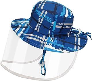 Dream Bridge Skyddande mössa för barn med avtagbar klar säkerhet ansiktsmask förhindrar saliv anti-UV sol anti-damm mössa ...