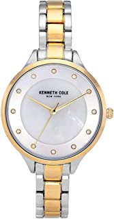 Kenneth Cole Women's Classic Link KC50940004 Gold Stainless-Steel Quartz Dress Watch