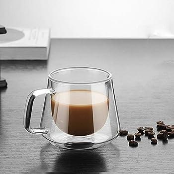 Tasse de caf/é ou de Lait en Verre isol/é /à Double paroi r/ésistant /à la Chaleur Coupe de Griffe de Chat