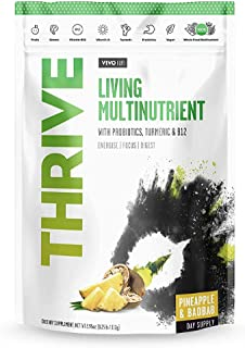 Vivo Life - Thrive Living Multinutrient Vegan Superfood Powder, Pineapple and Baobab, 240g