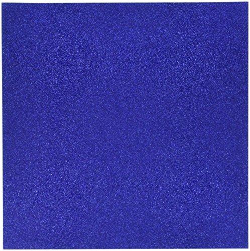 Carton à paillettes 30,5 cm par 30,5 cm, bleu joyau