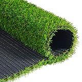 WEWE Hierba Artificial Falsa,25mm Realista Césped Sintético Turf Mat con Orificios De Drenaje Alta Densidad Espesar Pet Turf para Patio Balcones-Verde 200x50cm(79x20inch)