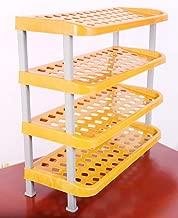 PE Retail Panda Creations 4 Shelf Smart Multipurpose Rack Organizer for Shoe/Clothes/Books (Orange)