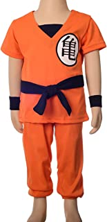 Boys' Dragon Ball Son Goku Fancy Costumes Set Outfit Halloween Party