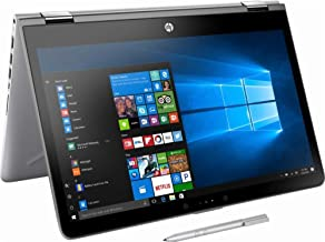 HP Pavilion x360 14 Inch HD touchscreen 2-in-1 laptop,Intel Core i3-7100U 2.4 GHz, 8GB RAM, 500GB HDD, USB-C, HDMI, HP Active Stylus Pen included, Windows 10 (Certified Refurbished)