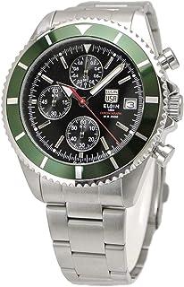【国内正規品】ELGIN エルジン 腕時計 クロノグラフ メンズ グリーン FK1418S-GR