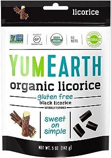 YumEarth Organic Gluten Free Black Licorice, 5 Ounce, 6 Count