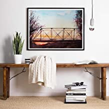 Acuarela One Tree Hill Bridge Impresiones de carteles, Tv Show Series One Tree Hill Canvas Painting Poster Karens Cafe Fan Gift 16x20inch (40x50cm)