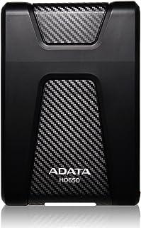 ADATA Disco Duro Externo HDD HD650, 1 TB, Negro USB 3.1,Cont