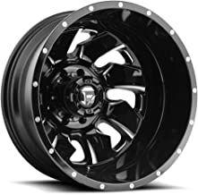 FUEL Cleaver Dualie Rear NB -BLK MIL Wheel with Painted (20 x 8.25 inches /8 x 165 mm, -195 mm Offset)
