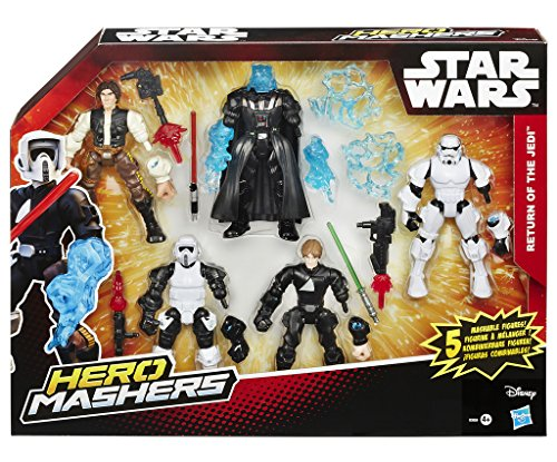 5 personaggi intercambiabili! Crea il tuo eroe preferito! Smonta e rimonta! Vivi l'avventura con Hero Mashers! Contiene 4 personaggi!