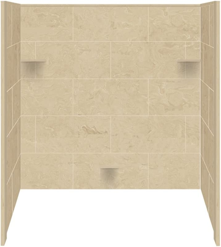 Transolid RBE6026-96 Solid Surface Tub Kit 32-Inch Shower Super Special SALE held Wall Popular brand in the world