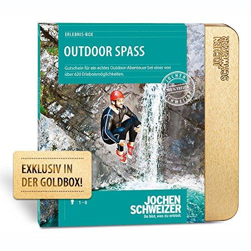 Jochen Schweizer Erlebnis-Box Outdoor Spaß, mehr als 580 Erlebnisse für 1-2 Personen, Abenteuer-Geschenk