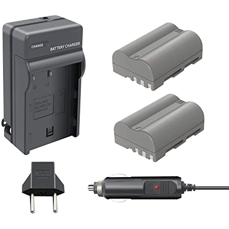 Nikon D50 D300S D90 D100 D70s D80 D200 D70 D300 Pickle Power 2 Pack EN-EL3E Battery and LED Charger for Nikon EN-EL3E Battery D700 Digital SLR Cameras