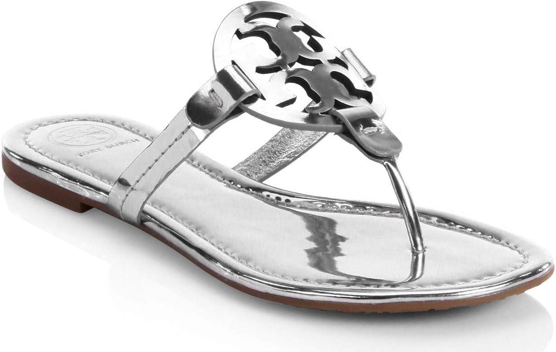 Tory Burch Woman's Sandalo Miller in Pelle Metal silver Silver