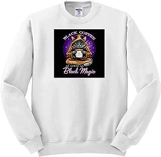 3dRose Sven Herkenrath Cat ts/_318908 Black Coffee as Good as Black Magic for Cat Lovers Fantasy Adult T-Shirt XL
