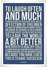 Ralph Waldo Emerson Quote Art Print. 60 Colours/3 Sizes. To Laugh Often. Graduation Gift. Success Motivational Poster
