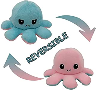 SooFam Cute Octopus Plush Toys Double-Sided Flip Octopus Plush Toy Reversible Lovely Octopus Stuffed Animals Doll Creative...