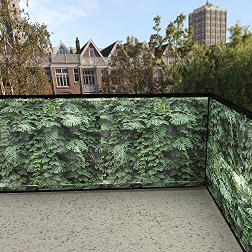 SIPP outdoor balkonafscheiding tropische planken (100x300cm Enkelzijdig)