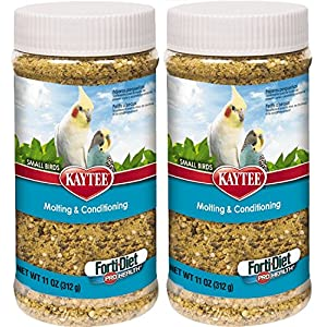 KT (2 Pack) Kaytee Forti-Diet Pro Health Molting & Conditioning Supplement for Small Birds, 11 Ounces Per Pack