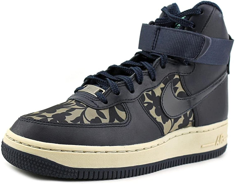 Nike Air Force 1 Hi LIB QS Women Round Toe Leather bluee Basketball shoes