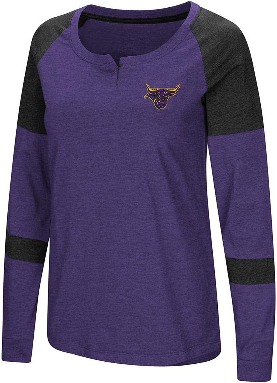 Colosseum Womens Minnesota State Mavericks Long Sleeve Raglan Tee Shirt
