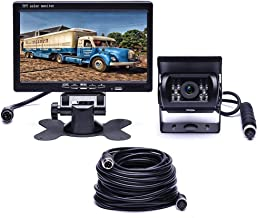 $53 » Hodozzy HD Car Backup Camera with Monitor Kit, 7 Inch LCD Rear View Backup Camera for Trucks Cars Vans Campers, Waterproof...