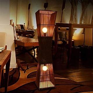 Lampadaire Durable Lampadaire Lampadaire Style Chinois Salon Chambre Lampe De Chevet Lumière Chaude Rotin Interrupteur À P...
