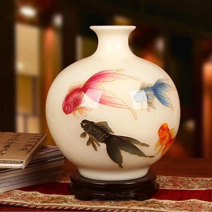 囲い定刻拍手花瓶 欠かせない絶妙な装飾景徳鎮金魚柄の異なる特性のスタイル繊細なテクスチャ