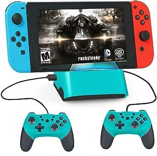 Switch ドック スイッチ 充電スタンド ニンテンド ポータブルusbハブスタンド4ポートfor Nintendo Switch/Nintendo Switch Lite対応(ブルー)