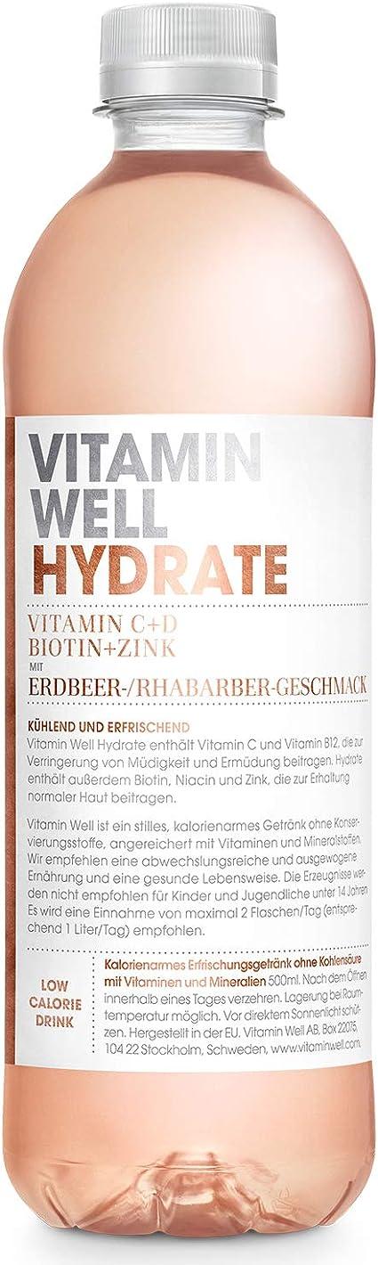 VITAMIN WELL Hidratante 12 x 500 ml Vitamina Well es una bebida funcional y baja en calorías enriquecida con componentes funcionales como vitaminas y ...