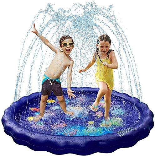 GCX Robusto 68'Almohadilla de rociadores de Agua para niños, colchoneta Inflable Colorida, jardín, Patio Trasero, rociador de Agua de Fiestas Juguetes Portátil