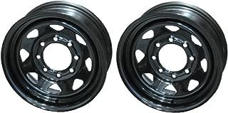 2-Pack Trailer Wheels 16 in. X 6 in. 8 Lug Black Steel Spoke Rim Wheel