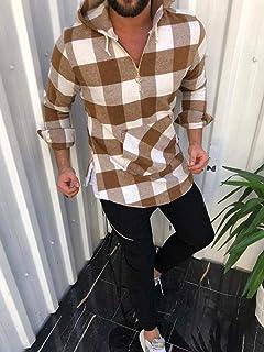YSY-CY Camisas estampadas para hombre, blusas informales holgadas de manga larga, camisa con botones para hombres, camisa masculina, camisa con cierre Suitable for outdoor travel/daily wear at work