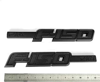 2pcs OEM F-150 Fx4 Emblem Side Fender Badge Nameplate 3D Logo Replacement for F150 Origianl Size Genuine Parts Black