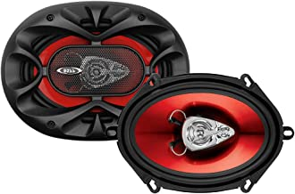 BOSS Audio Systems CH5730 Car Speakers - 300 Watts of Power Per Pair and 150 Watts Each, 5 x 7 Inch, Full Range, 3 Way, Sold in Pairs, Easy Mounting